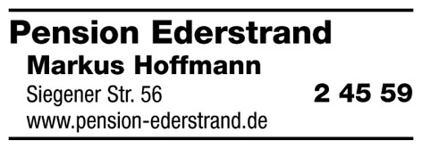 Pension Ederstrand Hoffmann Markus