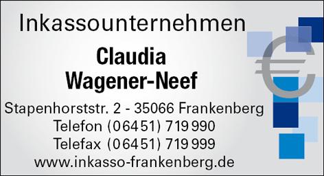 Wagener Neef Claudia Inkassounternehmen Frankenberg Forderungseinzug