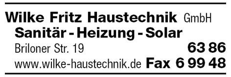 Fritz Haustechnik wilke fritz haustechnik gmbh willingen sanitär solar heizung gas