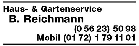 Reichmann B. Haus- & Gartenservice Waldeck Innenausbau ...