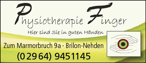 Physiotherapie Finger